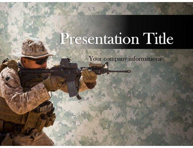 95 best powerpoint templates images on pinterest marine sniper free powerpoint template toneelgroepblik Choice Image