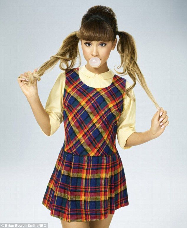 From pop star to schoolgirl: Ariana Grande plays Penny Pingleton in NBC's Hairspray Live! which released the first official cast photos on Friday