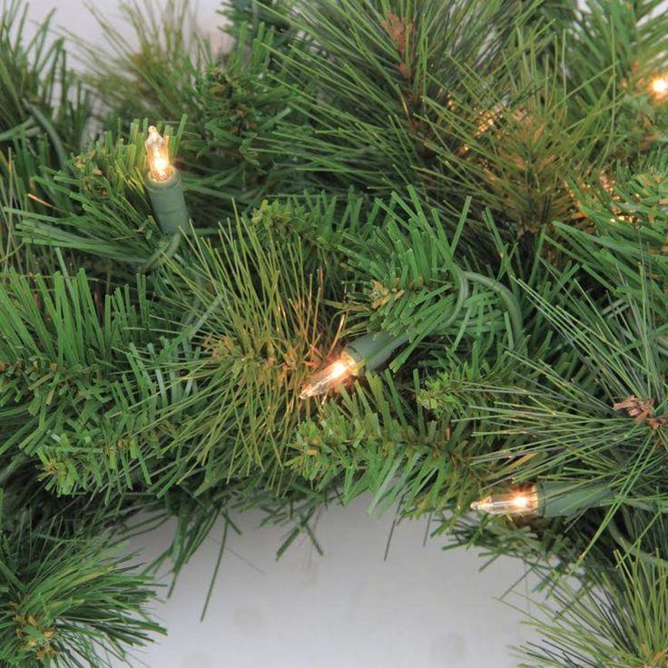 "7.5' x 43"" Pre-Lit Flocked White Pine Slim Artificial Christmas Tree Warm White LED Lights"
