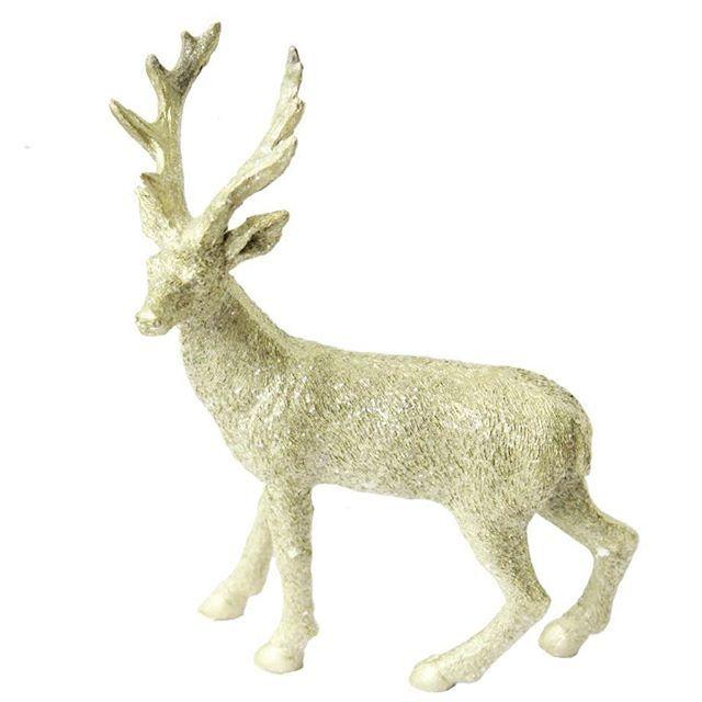 En liten blinbling ren, alternativt hjort..., finns nu i butiken👌 #ruthochgreta #inredningsbutik #glitter #ren #hjort #juldekoration #christmasdecor ##scandisysters #inredningsdetaljer