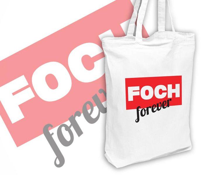 Bawełniana EKO torba na zakupy FOCH FOREVER biała