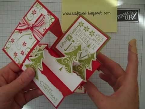Stampin' Up! Card base 1 - Just don't cut the 5 1/2 x 8 1/2 the way she does! LOL (2 x 5 1/2 = 11, so you can get two full 8 1/2 x 5 1/2 card bases from one sheet of cardstock.