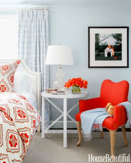 Pretty Bedroom Colors: 106 Best Images About Complementary Colors: Blue-orange
