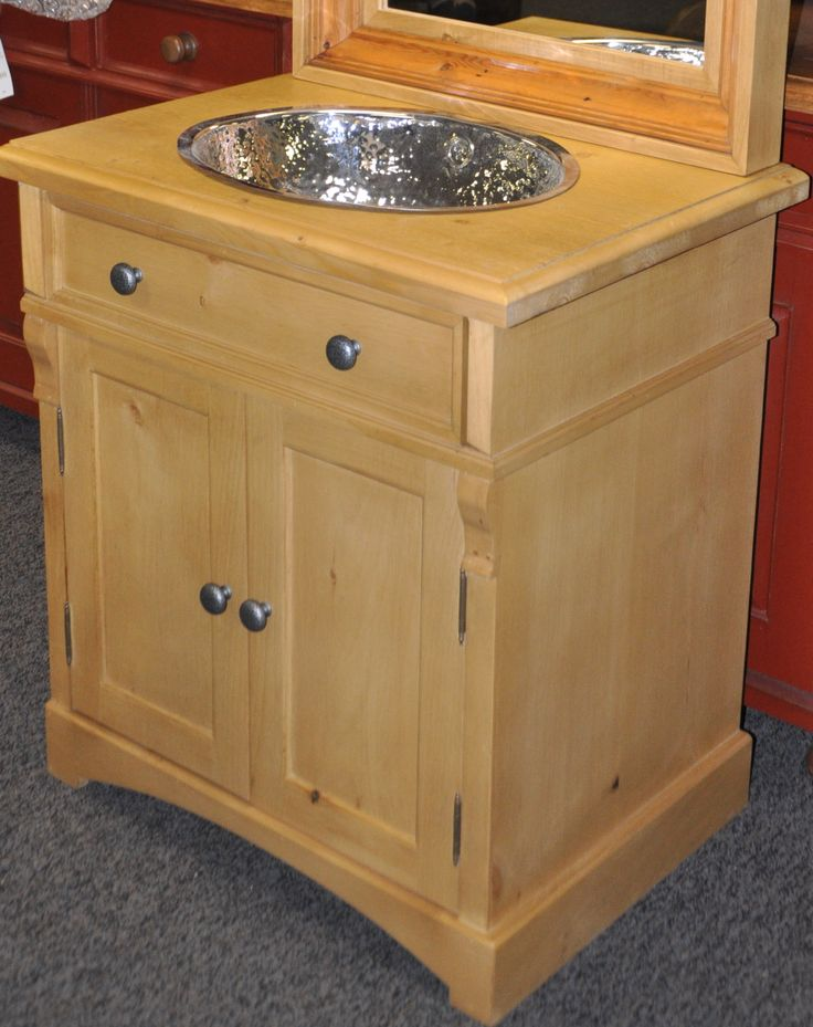 Custom Pine Bathroom Vanity, Made To Order. Http://europeanantiquepine