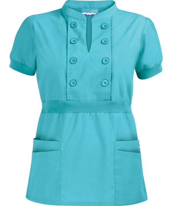 UA532C Butter-Soft Scrubs by UA™ Women's Bib Button Front Scrub Top http://www.uniformadvantage.com/pages/prod/ua532c-solid-scrub-top.asp?frmcolor=tiffa