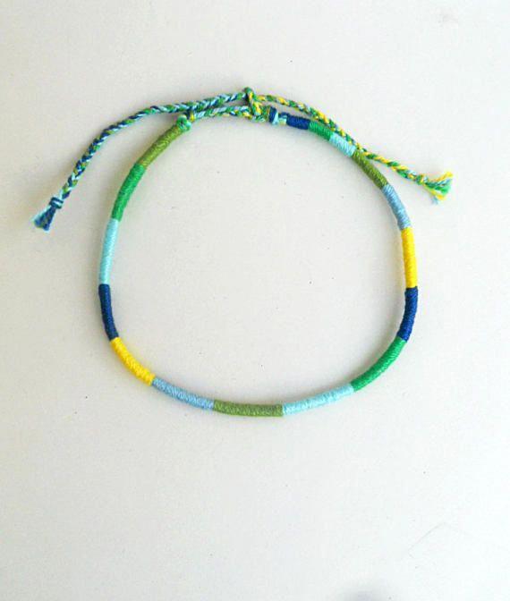 Men/'s Cord Bracelet Surfer Bracelet Cotton Rope Bracelet Beach White And Black Bracelet Colourful Bracelet Summer Jewellery Gift For Men