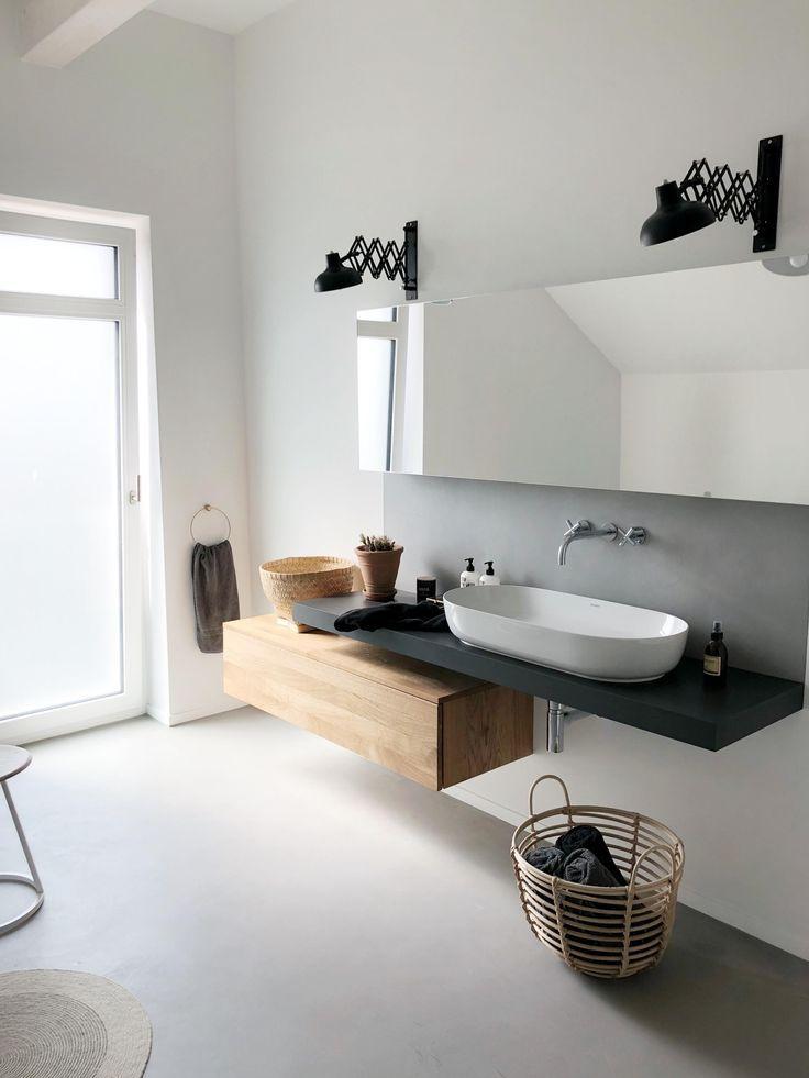 Ich Bin Dann Mal Im Badezimmer Bathroom Badezimmer Bad Betoncire Beton Grey Eiche Wood Badezimmer Badezimmer Design Neues Badezimmer