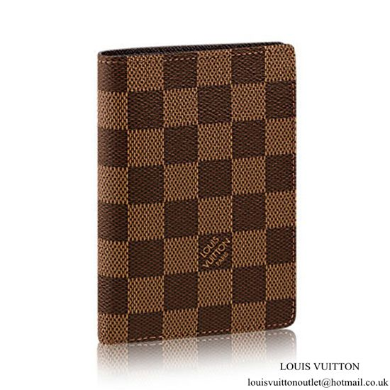 Louis Vuitton N63023 James Wallet Damier Ebene Canvas   Louis ... a380c745da