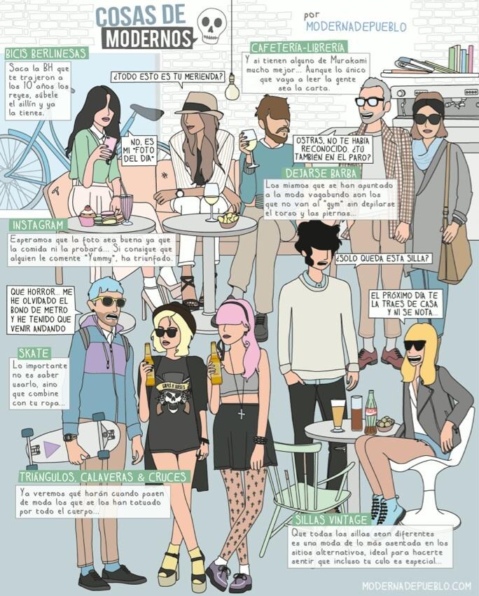 Cosas de modernos