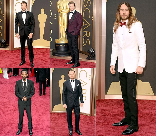 Tuxes with a Twist 2014 best dresses men at the Oscars
