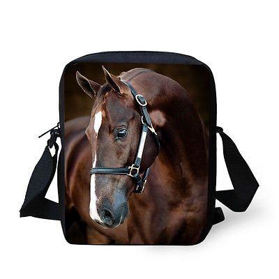 Details über Tier Pferd Frauen Messenger Schultertasche Cross Body Schultertasche Handtasche Mädchen