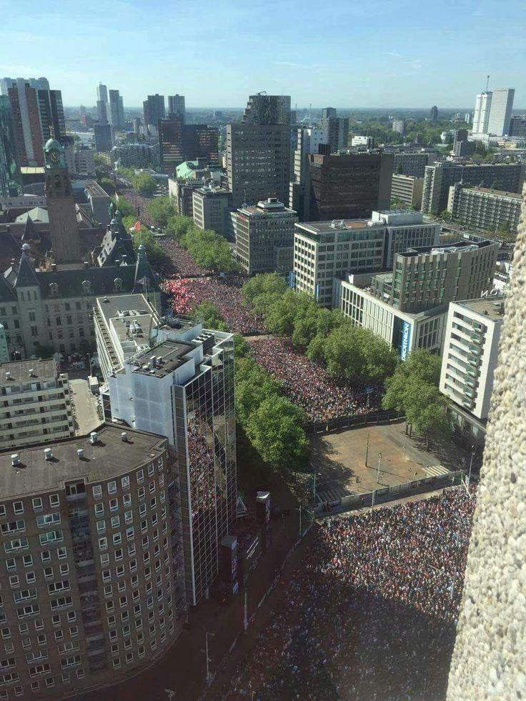 Huldiging Landskampioen Feyenoord, 15 Mei 2017, Coolsingel, Rotterdam.