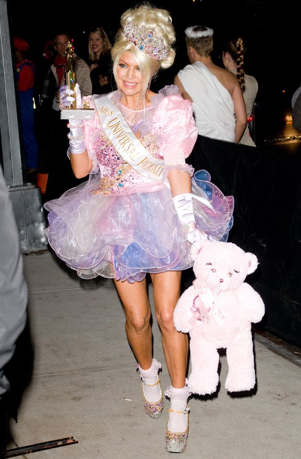 fergie dresses up as a child from us show toddlers and tiaras at heidi klums halloween - Oprah Winfrey Halloween Costume