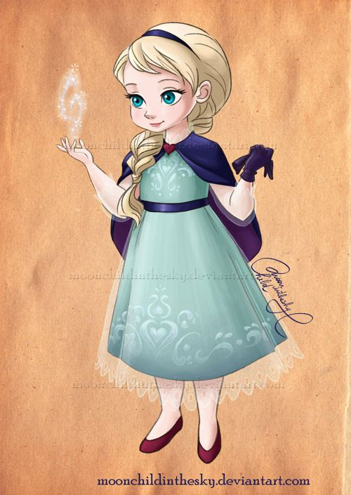 Child Elsa by moonchildinthesky by moonchildinthesky on deviantART