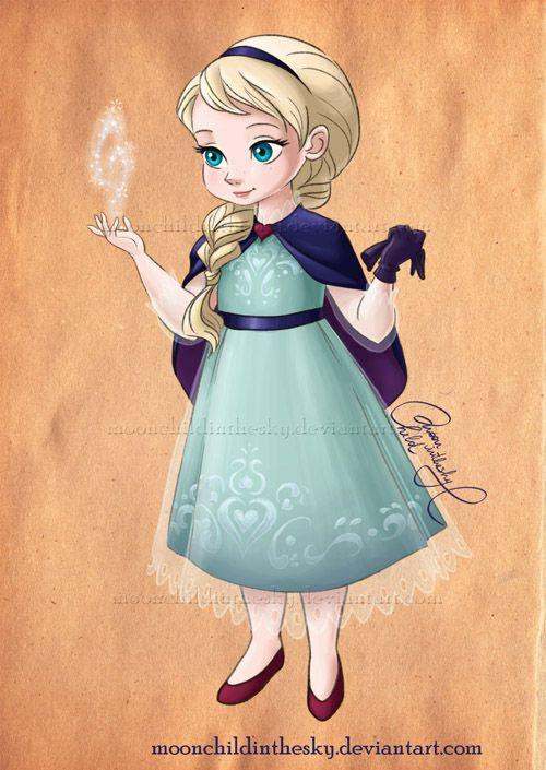 Elsa de niña