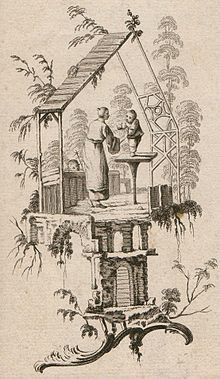 Unknown engraver after J. Pillement. Vignette au gout chinois. 1760s. Private collection, Russia
