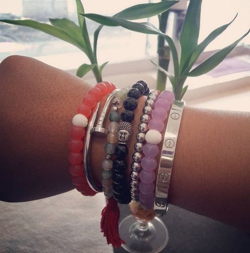 """Just right on my wrist. I wear it literally all the time! :)"" -Kaylee B."