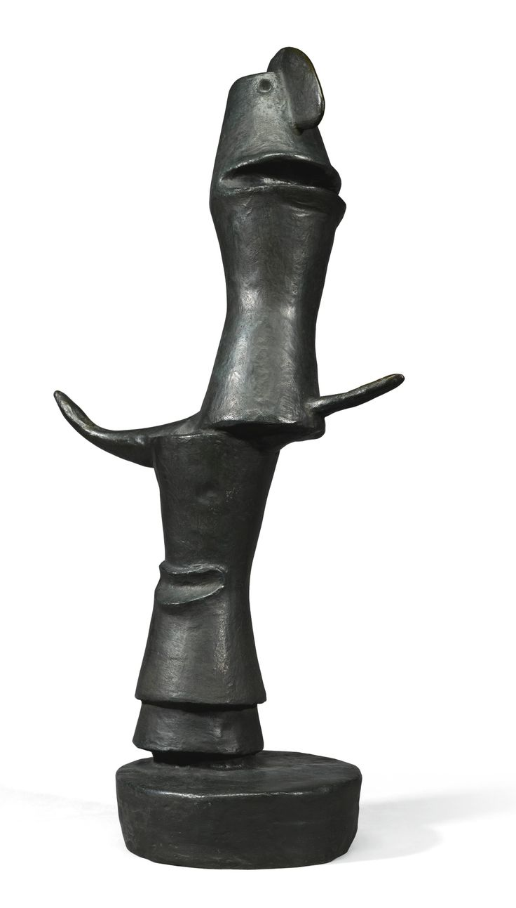 Max Ernst 1891 - 1976 OEDIPE I inscribed Max Ernst, numbered E.A. 1/3 and inscribed with the foundry mark Susse Fondeur Paris bronze height: 60.5cm., 23 3/4 in. Conceived in 1934 and cast in bronze from 1960 in an edition of 7 plus 3 artist proofs; the present work was cast between June and October 1975. Literature Werner Spies, Sigrid & Günter Metken, Max Ernst, Werke 1929-1938, Cologne, 1979, no. 2153.1, illustration of another cast p. 302 Jürgen Pech, Max Ernst, Plastische Werke, Cologne…