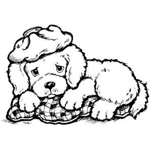 sick coloring pages - sick vet with dog coloring page coloring pages