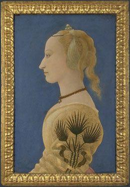 Alesso Baldovinetti: 'Portrait of a Lady' Room 58