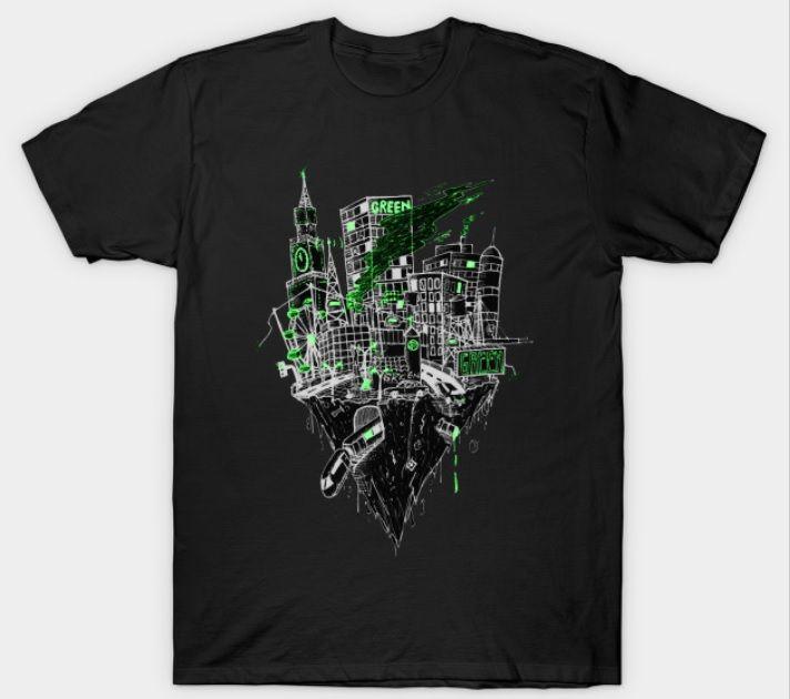 $14 Shirt Teepublic A Greener City #architecture #greenery #draw