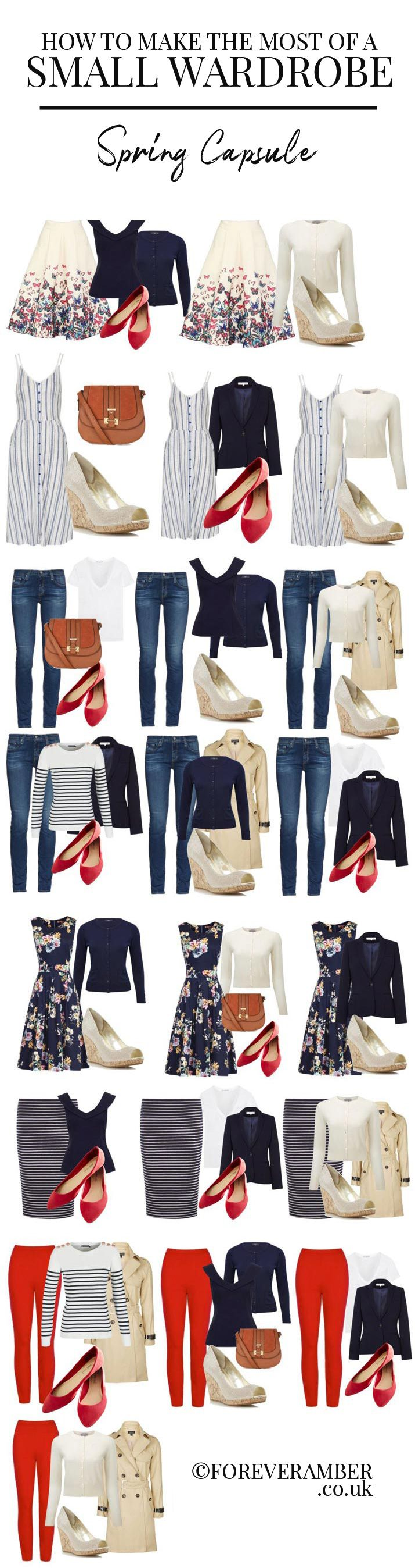 how to make the most of a small wardrobe: sample capsule wardrobe for spring