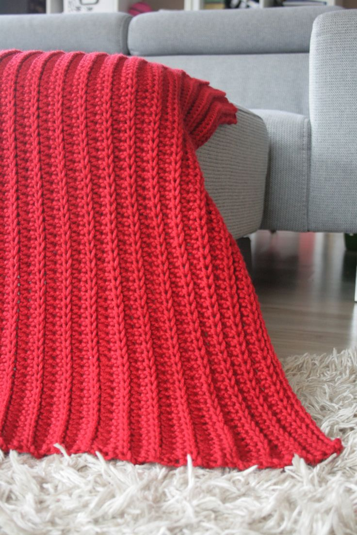Crochet Baby Blanket Baby Shower Gift Newborn Blanket Nursery Crib Afghan Red Infant Photo Prop Red Baby Blanket by ShopForBabyGifts on Etsy