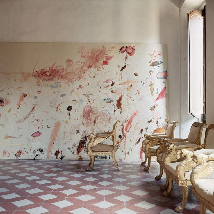 #CyTwombly #Rome house photographed by #HorstPHorst 1966 #theredlist
