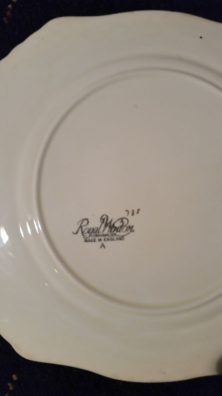 """This is a Royal Winton """" Tershore """" cake plate, back of, (it doesnt have """"Tershore"""" printed on the back but it definitely is the same pattern). It is very rare, Tershore items are very few and far between. Check out my other Tershore pattern items & my Royal Winton """" Old English Markets """" Egg cup tray. All items are for sale."""