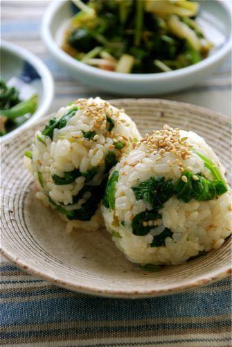 ほうれん草のナムルのおにぎり|vege dining 野菜のごはんPowered by Ameba