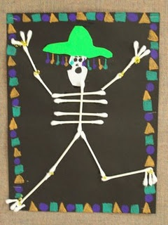 Best 25 q tip art ideas on pinterest q tip painting for Day of the dead crafts for preschoolers