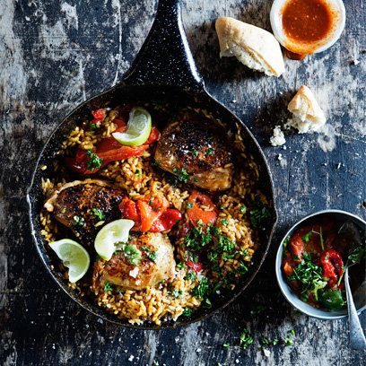 Chicken Paella recipe. For the full recipe, click the picture or visit RedOnline.co.uk