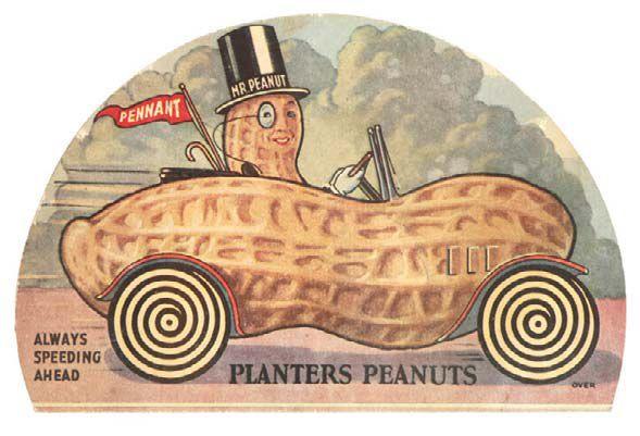 Planters Peanuts Cardboard Ad