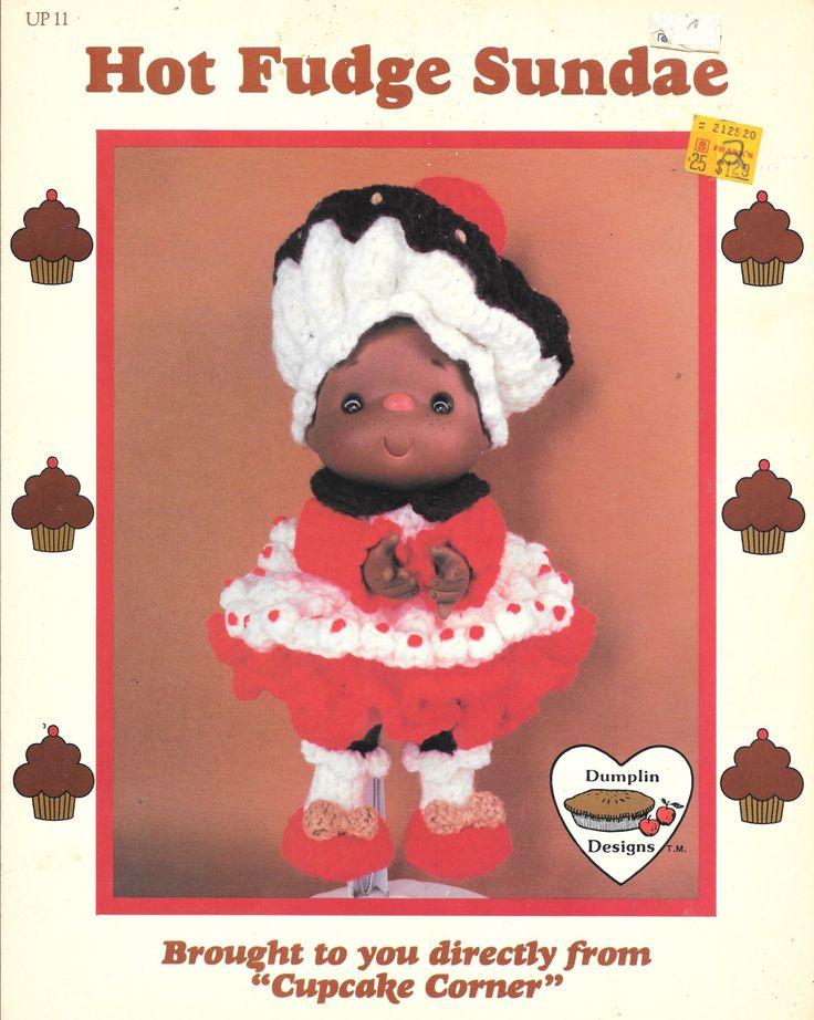 Hot Fudge Sundae crocheted doll, Lollipop Lane, Dumplin Designs, 1984 by CrochetOldies on Etsy