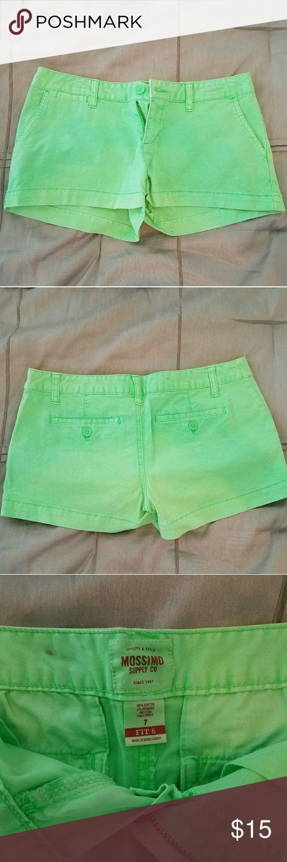 Mossimo neon shorts These Mossimo shorts are a neon green. Mossimo Supply Co Shorts