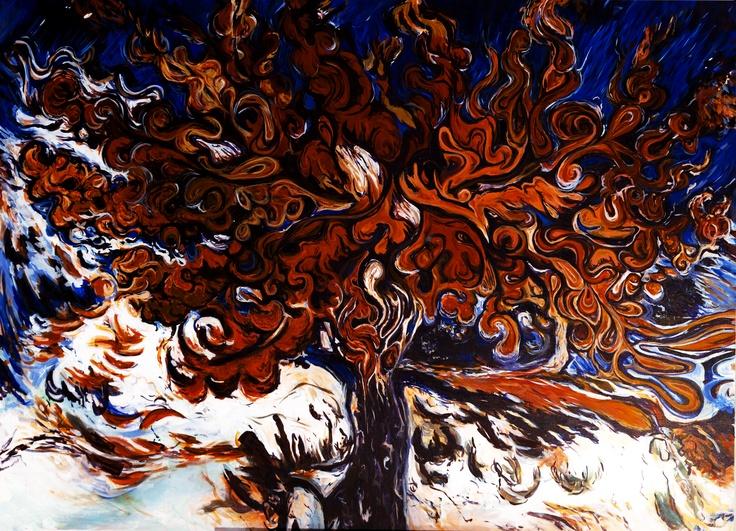 Lori Gilbert Art   The Gogh Ghetter  Acrylic on canvas    Lorigilbertfinearts.com