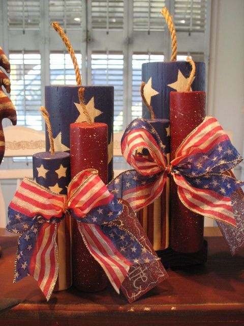 primitive 4th of july   Details about Primitive Set Of One 4th Of July Wooden Fire Crackers ...