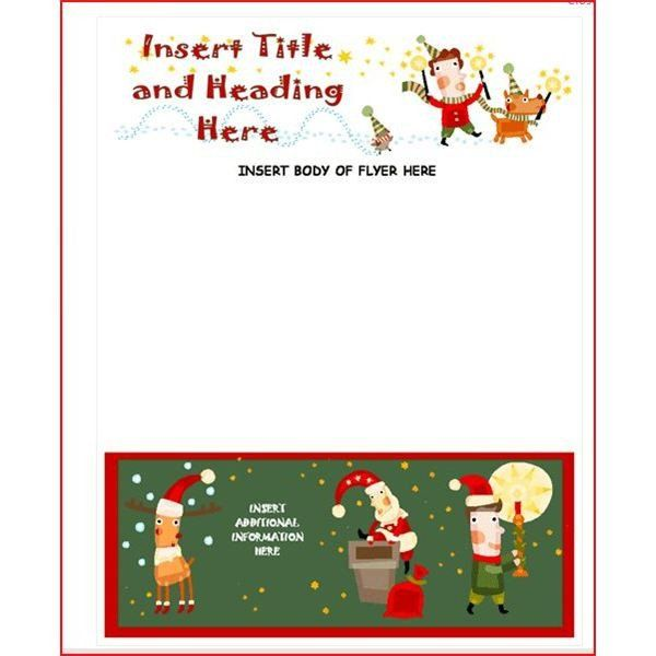 Christmas Flyer Templates Word Create A Christmas Flyer Line With These Method Free Christmas Flyer Templates Christmas Card Template Christmas Letter Template
