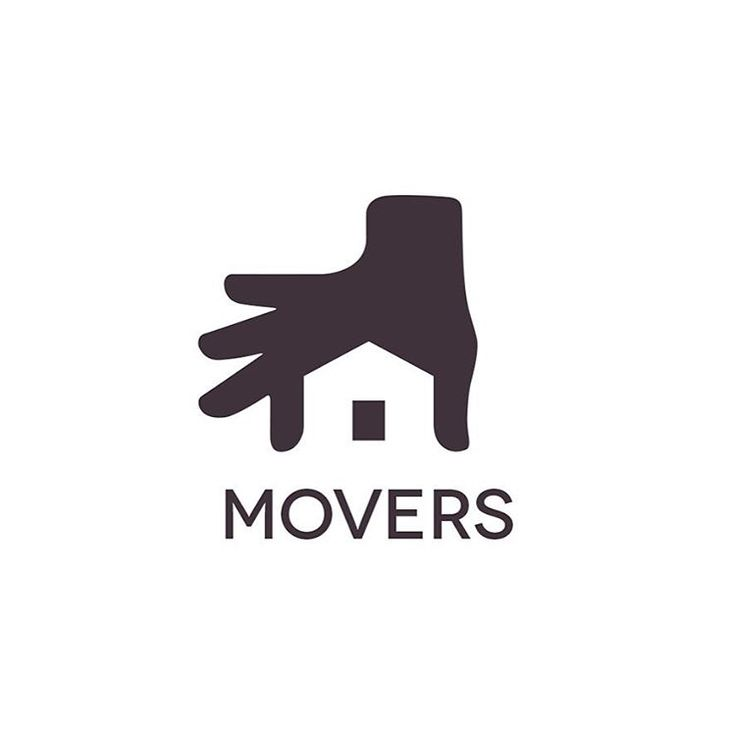 (LOGO) Movers logo by @ramotion Follow them for cool designs! The use of negative space in this logo is eye catching, but also stays true to its function as a logo with elements of simplicity. The logo clearly suggests the function of the company for which it was designed.
