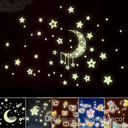 Discount Eco Friendly Pvc Fluorescent Luminous Wall Sticker Glow In The Dark Stars Decorative Wall Decal For Kids Rooms Decoration Wall Art From China | Dhgate.Com
