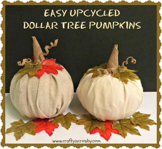 Dollar Tree Store Fall Decor Pumpkins