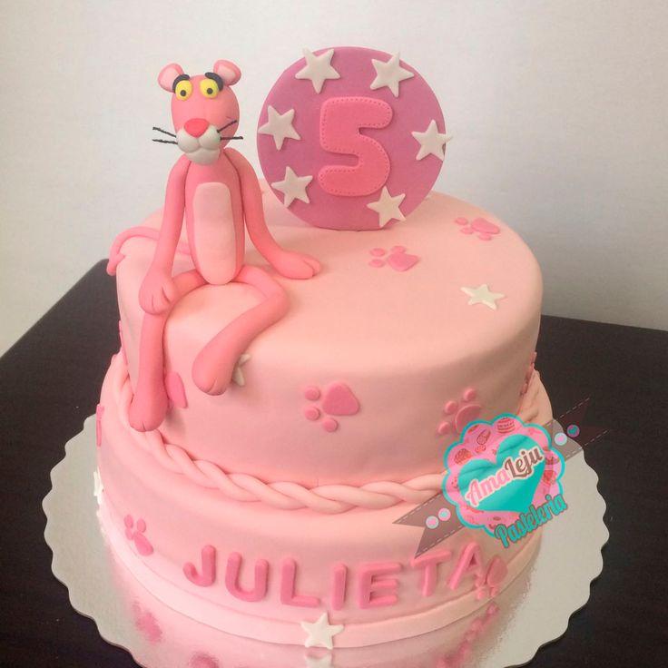 Torta Pantera Rosa Realiza tu pedido por; https://goo.gl/mvYBYv WhatsApp: 3058556189, fijo 8374484  correo info@amaleju.com.co Síguenos en Twitter: @amaleju / Instagram: AmaLeju