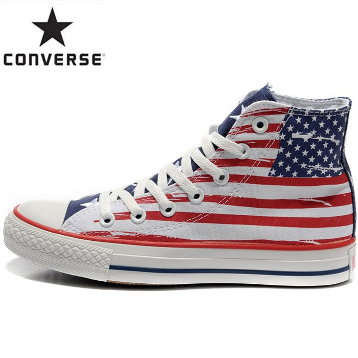 Outlet USA Upscale Converse High Shoes for lover black red Beautiful