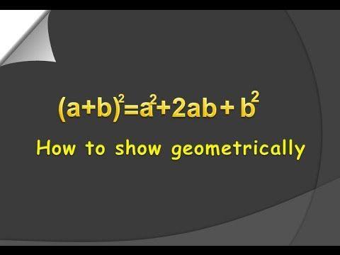 how to show a+b^2= a^2+2ab+b^2 geometrically (E.M) for viii class