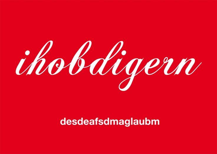Postkarte: ihobdigern-desdeafsdmaglauben