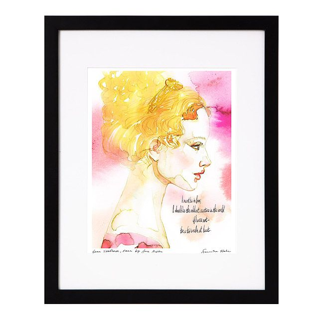 """Emma Woodhouse"" Watercolor Print at uncommongoods.com"