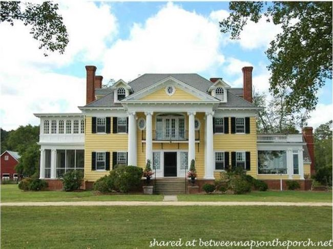attractive greek revival house plans small #5: Greek Revival Manor Home, Oak Hall