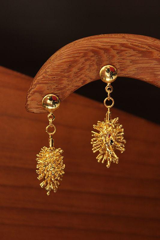Amazona Secrets 18kt Gold Coffee Bean Earrings ooXlYz