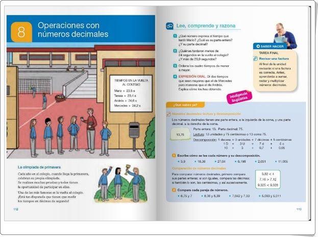 """Unidad 8 de Matemáticas de 4º de Primaria: """"Operaciones con números  decimales"""""""