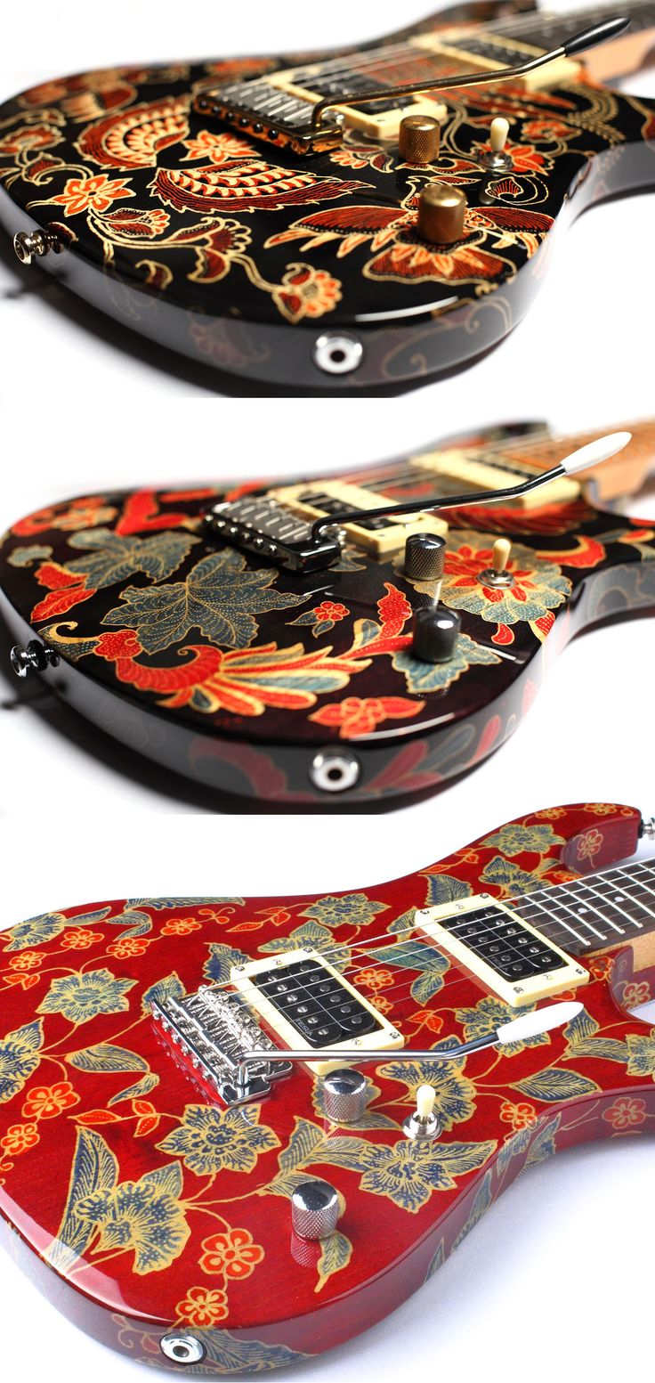 The traditional Batik designs of G+B Guitars, Indonesia gnbguitars.com